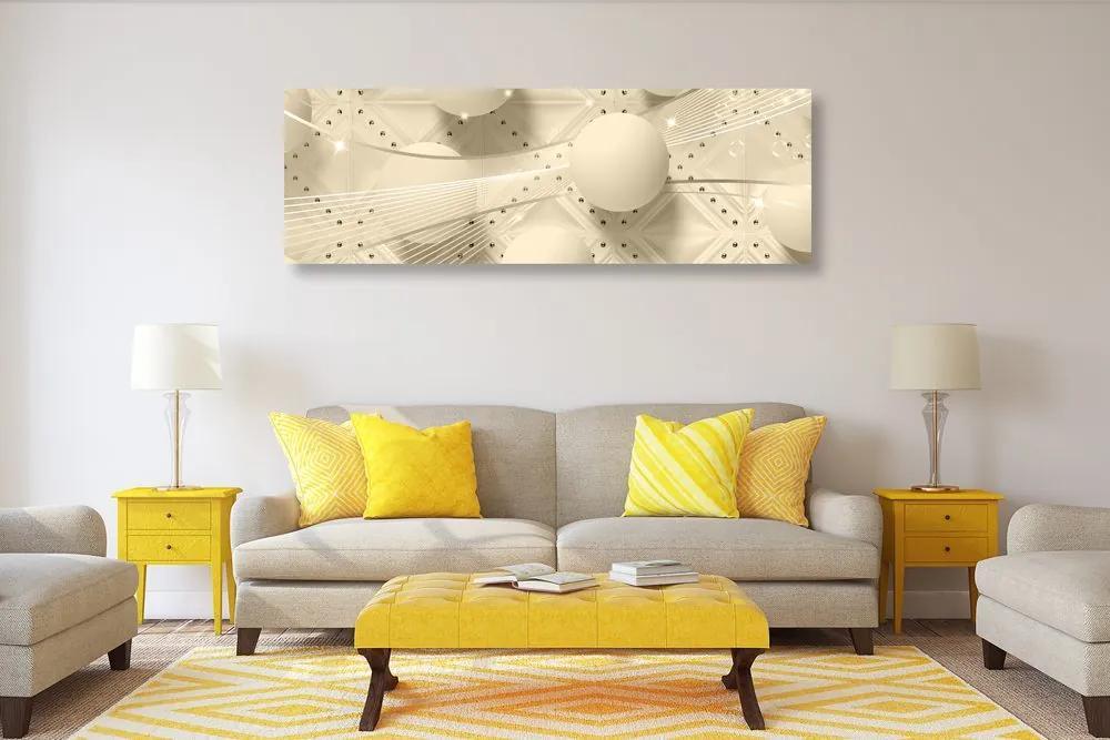 Obraz luxus v sépiovom prevedení