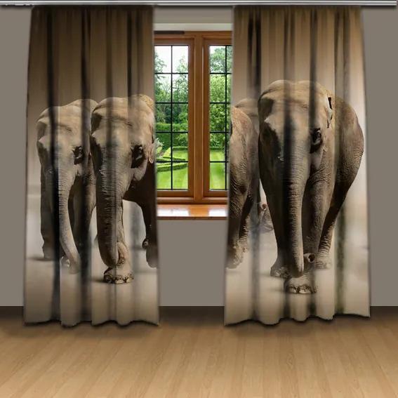 Závesy Stádo slonov (Rozmer: 140x250)