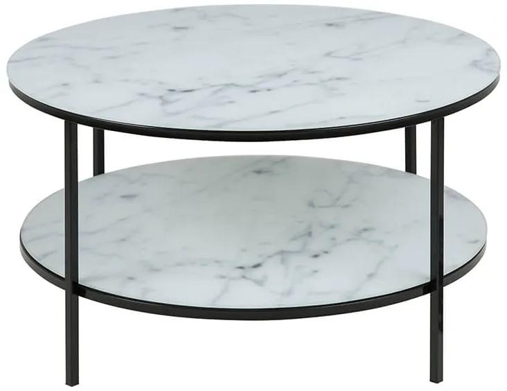 Alisma 2 konferenčný stolík R80 biela / čierna