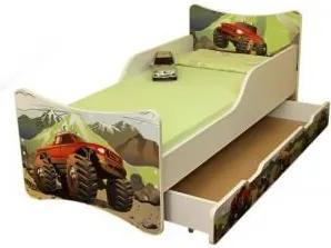 MAXMAX Detská posteľ so zásuvkou 180x80 cm - AUTO 180x80 pre chlapca ÁNO