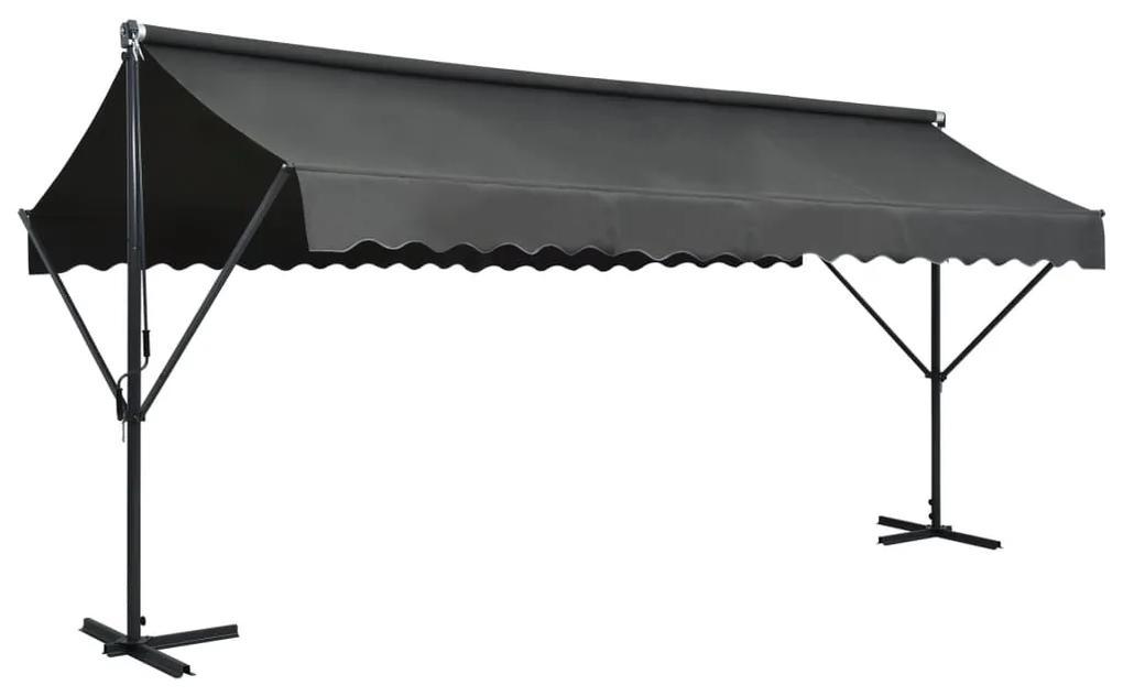 vidaXL Samostatne stojaca tieniaca plachta 500x300 m antracitová
