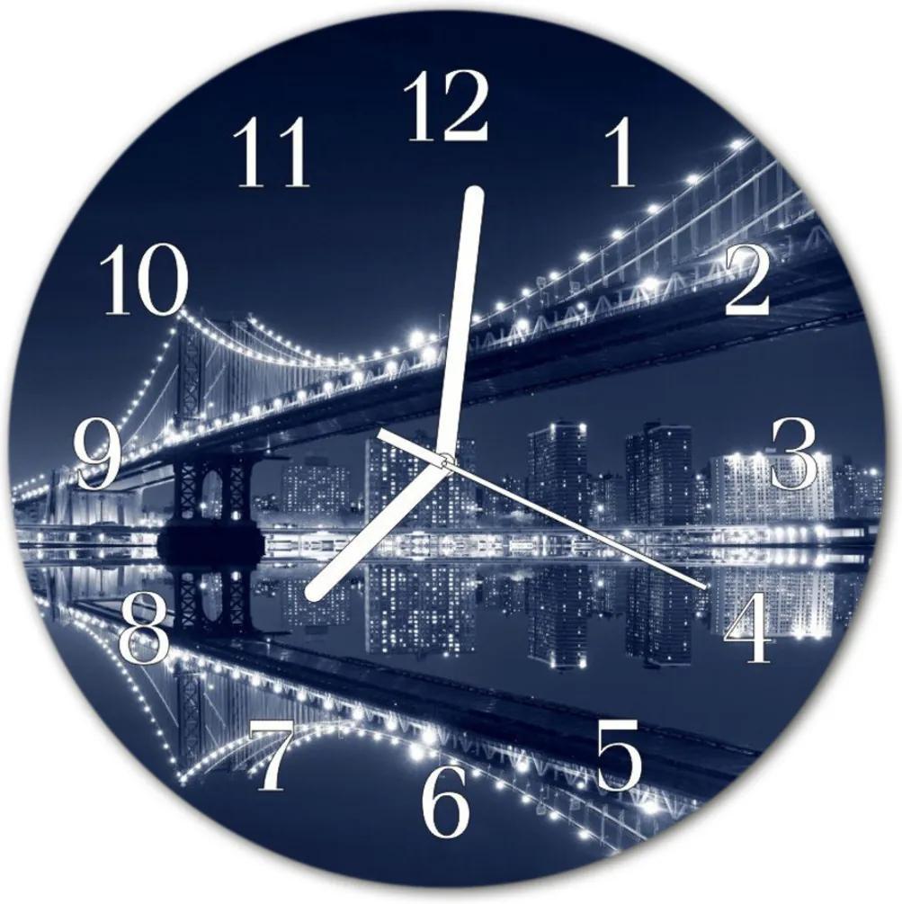 Skleněné hodiny kulaté most