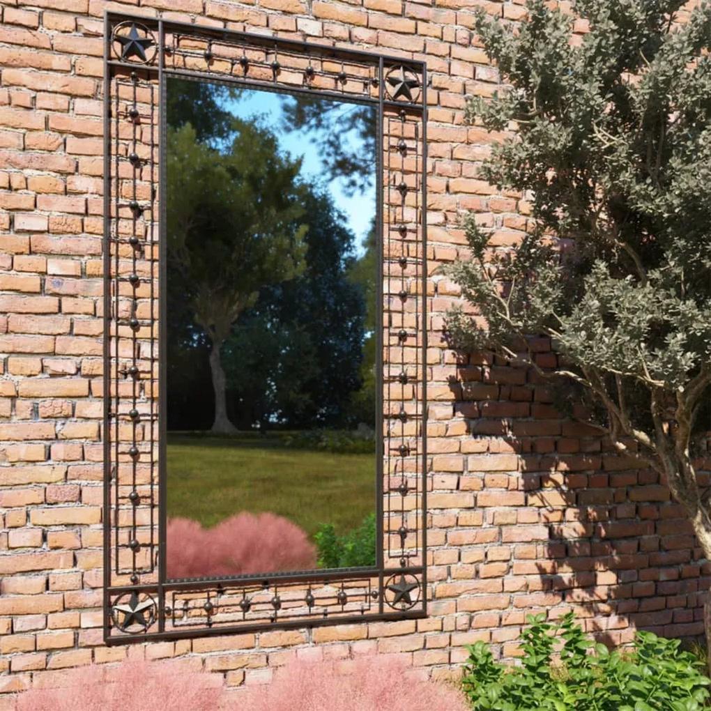 vidaXL Záhradné nástenné zrkadlo obdĺžnikové 60x110 cm čierne