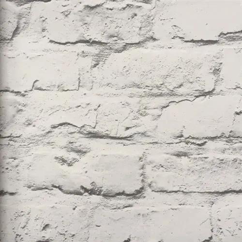 Vliesové tapety na stenu tehlová stena bielo-sivá 19601, rozmer 10,05 m x 0,53 m, GRANDECO