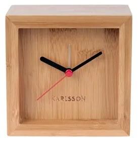 Stolní hodiny Corky, 10x10 cm, bambus Stfh-KA5686 Time for home+