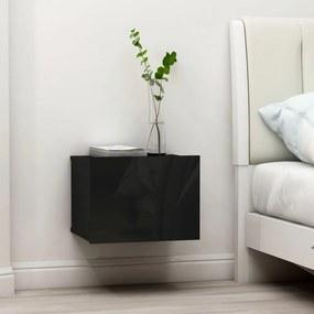 vidaXL Nočné stolíky 2 ks, lesklé čierne 40x30x30 cm, drevotrieska