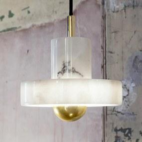 Tom Dixon Stone závesná lampa mramorové tienidlo
