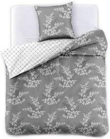 Sivé obliečky na jednolôžko z mikrovlákna DecoKing Hypnosis Calluna, 200 x 140 cm