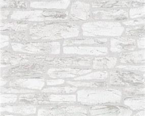 Vliesové tapety, kamenný obklad sivý, Suprofil 50812, Marburg, rozmer 10,05 m x 0,53 m