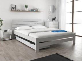 Posteľ PARIS zvýšená 140x200 cm, biela Rošt: S latkovým roštom, Matrac: Matrac DELUXE 15 cm