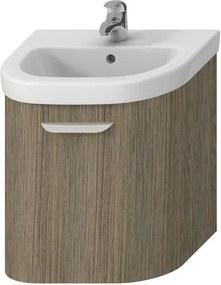 Kúpeľňová skrinka pod umývadlo Jika Deep 48x44x49,8 cm hnedá H4541314343411