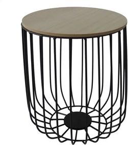Sconto Odkladací stolík FU14 paulovnia, Ø 30 cm