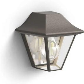 Philips 17385/43/PN Curassow exteriérové nástenné svietidlo E27 1x42W bez zdroja IP44, hnedá patina
