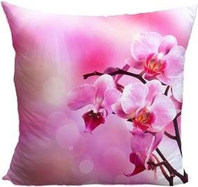 Vankúš Ružová orchidea (Veľkosť: 40 x 40 cm)