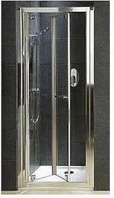 Sprchové dvere Kolo GEO 6 skladací 90 cm, sklo číre, chróm profil GDRB90R22003