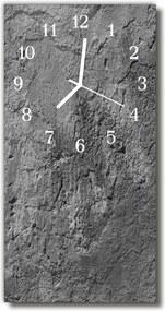 Nástenné hodiny vertikálne  Betónová sivá stena