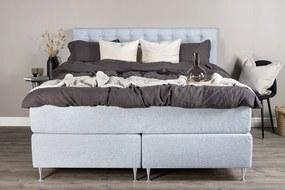 Furudal 160 boxspring manželská posteľ svetlo sivá čelo Furuvik