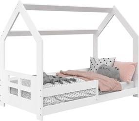 AMI nábytok Detská posteľ DOMČEK D5D 80x160cm masív biela