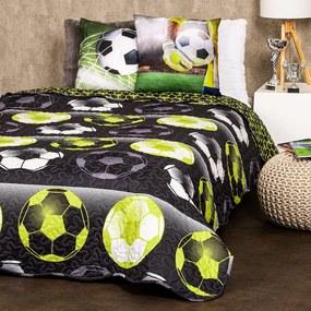 4Home Prehoz na posteľ Football, 140 x 220 cm