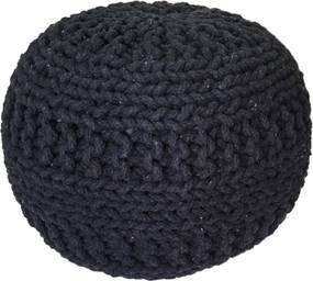 KUDOS Textiles Pvt. Ltd. MEGA AKCE: Sedací vak TEA POUF 36 antra - 40x40x35 cm