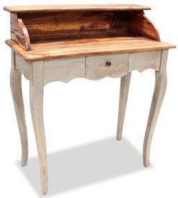 vidaXL Písací stôl z masívneho recyklovaného dreva, 80x40x92 cm