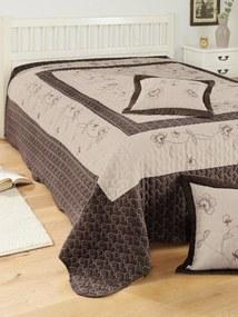 Prikrývka na posteľ Webschatz hnedá