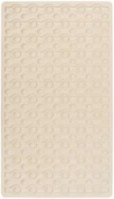 Béžová protišmyková kúpeľňová podložka Wenko Rocha, 70 × 40 cm