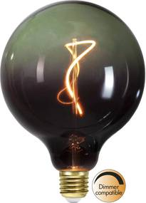 E27 G125 4W LED 2200K čierna/zelená stmievateľná