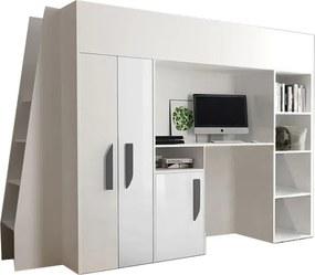 SB Multifunkčná poschodová posteľ Party 15 Farba: Biela