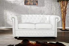 Sofa Chesterfield 2 biela matná