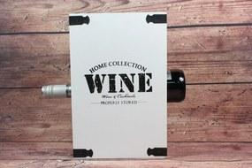 """Drevený stojan na 3 fľaše """"WINE"""" - biely (19,5x30x10,5 cm)"""