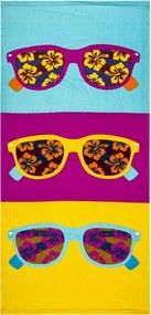 JAHU Plážová osuška Slnečné okuliare, 70 x 150 cm