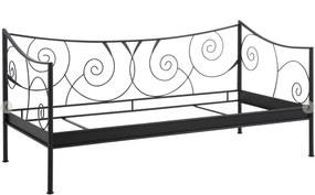 Čierna kovová posteľ Støraa Isabelle, 90 × 200 cm