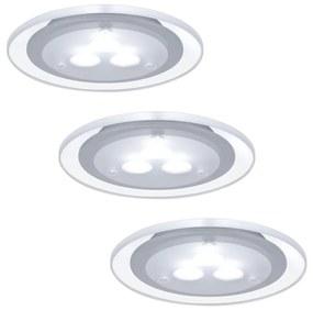 Paulmann Paulmann 98352 - SADA 3x LED podhľadové svietidlo MICRO LINE 3xLED BA0020