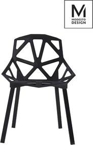KHome MODESTO stoličky SPLIT MAT čierna - polypropylén, kovový základ