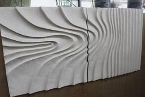 Krémový obraz v pieskovom dizajne 73x36cm
