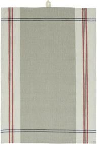 IB LAURSEN Bavlnená utierka Grey/Red Stripes
