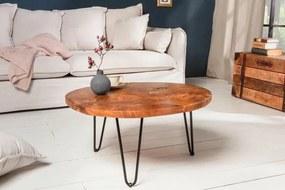 IIG -  Ručne vyrobený konferenčný stolík MOSAIK 70 cm teak, prírodný