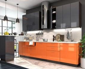 VerDesign, VALENCIA 240, orange/antracit lesk