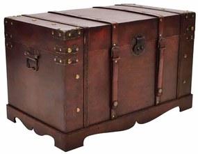 Vintage veľký drevený kufor