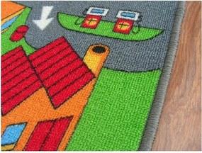 Detský koberec LITTLE VILLAGE - 100x100 cm