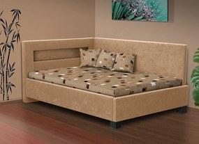 Nabytekmorava Čalúnená posteľ s úložným priestorom Mia Robin 120 matrac: bez matrace, farba čalúnenie: béžová, úložný priestor: s úložným priestorom