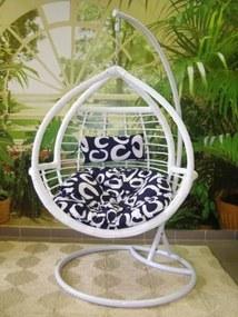 Záhradné závesné relaxačné kreslo WHITE - biele