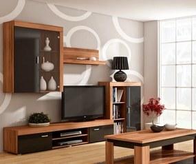 MEBLOCROSS Mamba obývacia stena slivka / čierna