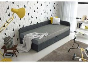 Čalúnená posteľ VALESKA 90x200, šedá