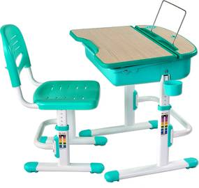 Detský písací stôl CAPRI - rôzne farby / stojan na knihy