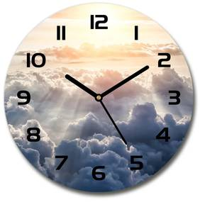Sklenené hodiny na stenu Mraky z vtáčieho pohľadu pl_zso_30_f_92314330