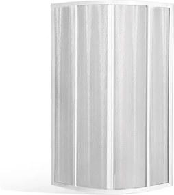 Štvrťkruhový sprchovací kút CR2 s dvojkrídlovými posuvnými dverami Biela Sklo TRANSPARENT 90 cm 90 cm