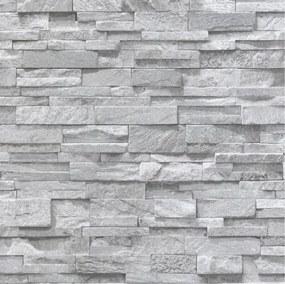 Papierové tapety na stenu Sweet & Cool 05222-20, rozmer 10,05 m x 0,53 m, kamene sivé, P+S International
