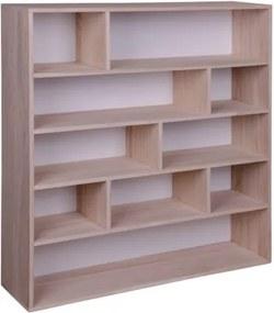 Knihovna PISA přírodní dřevo pavlovnie, bílá záda House Nordic 3404940050